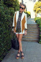 Zara blazer - Zara shorts - Equipment blouse - Jcrew blouse - Nine West sandals