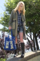 vince shirt - DIY Rock&Republic cut offs shorts - Jcrew shoes - H&M jacket - Reb