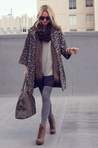YSL bag - Luxury Rebel boots - BB Dakota dress - Zara jacket