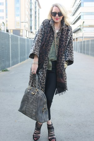 YSL purse - loeffler randall shoes - Zara coat - banana republic scarf