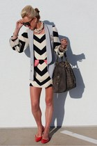 madewell vest - BR shoes - dvf dress - YSL purse - Karen Walker sunglasses
