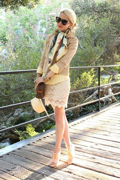 H&M hat - Theory jacket - Karen Walker sunglasses - rag&bone wedges