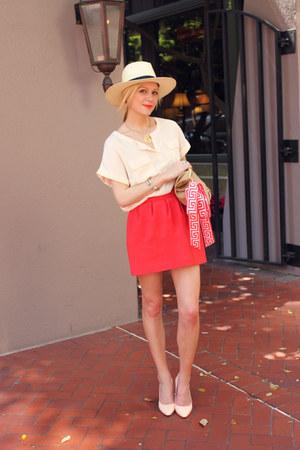 pour la victorie shoes - H&M hat - Lilly Pulitzer scarf - aa purse - H&M blouse