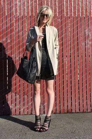 Club Monaco dress - loeffler randall shoes - CFDA for Gap jacket - Chanel purse