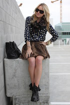 Givenchy boots - banana republic scarf - Chloe sunglasses - Zara skirt - Equipme
