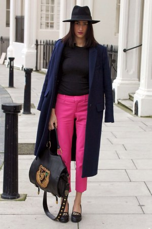 bubble gum pink trousers Zara pants