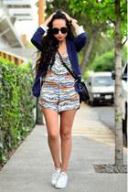 navy blazer Zara blazer - carrot orange jumpsuit Zara bodysuit