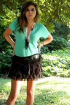 green American Apparel t-shirt - black Forever21 skirt