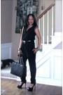 Leather-tote-mk-bag-black-unknown-jumper-open-toes-black-steve-madden-pumps