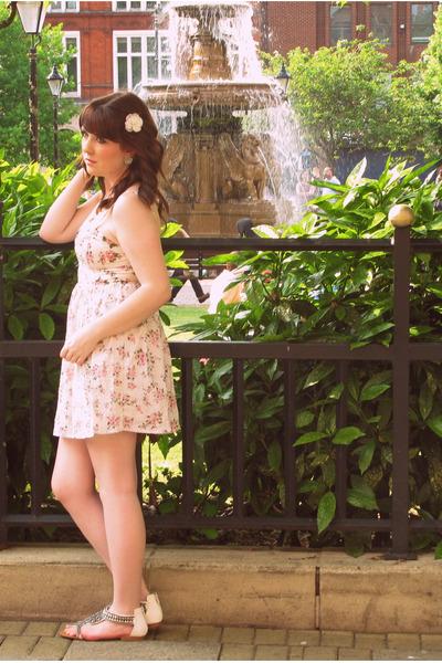 white Topshop dress - white Miss Selfridge shoes