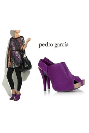 purple peep toes Pedro Garcia sandals