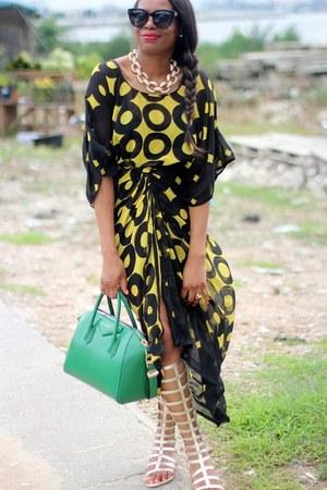 FNR skirt - Celine sunglasses - stuart weitzman sandals - FNR top