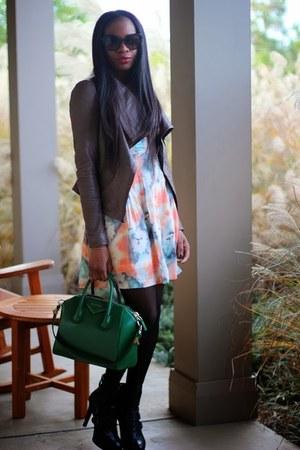 Nine West boots - modcloth dress - Prada sunglasses