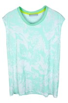 Dreamy Rose Print Tank Top (Mint)