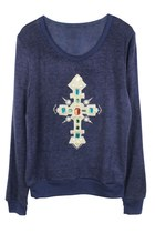 GEM ON CROSS SWEATER