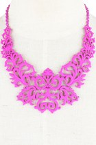 Patterns of Your Style Necklace (Hot Pink)