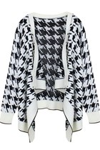 Houndstooth Delight Knitwear Cardigan