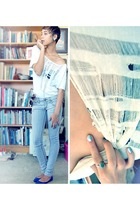 Hand-made shirt shirt - Free People Acid wash denim pants