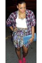 H&M top - H&M blouse - H&M skirt - H&M bracelet - H&M necklace - Zara shoes