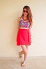 Floral-crop-top-la-boutique-top-milin-skirt-h-m-necklace