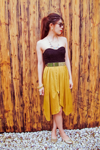 cutler and gross sunglasses - Topshop skirt - H&M belt - H&M top - H&M bracelet