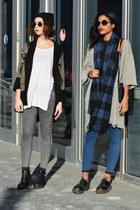 silver long H&M cardigan - black geometric Forever 21 jumper