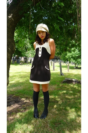 zara via ebay dress - Primark socks - Primark shoes - Topshop hat