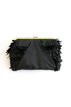 black leather elf purse