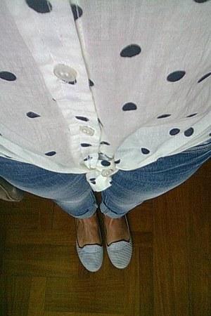 Primark shirt - silvian heach jeans - H&M bag - Primark flats