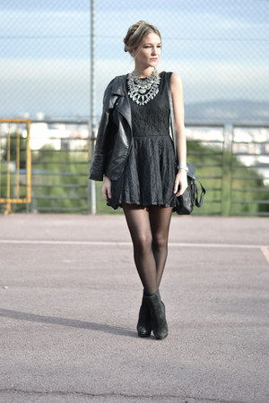 black Choies dress - black PERSUNMALL bag