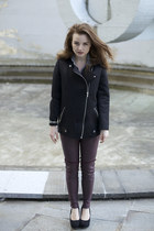 black neopren H&M jacket - dark brown planet of apes H&M leggings