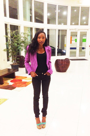 William Rast blazer - Zara jeans - super dombasle Christian Louboutin wedges