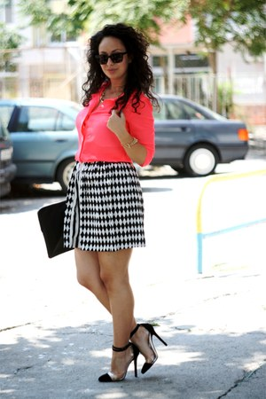 Moja shirt - Christian Louboutin shoes - Esprit sunglasses - Moja skirt