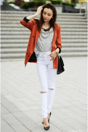 shoes - jeans - blazer - t-shirt