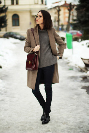 shoes - coat - sweater - bag