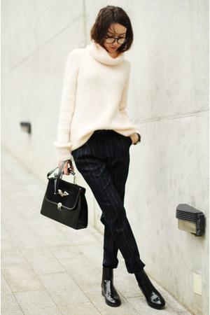Zara shoes - Zara sweater - vintage bag - Mango pants