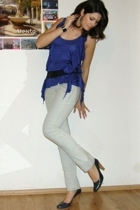 Zara blouse - Wrangler jeans - shoes - Zara belt