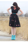 Black-courtesy-of-eshakti-dress-turquoise-blue-urbanog-shoes