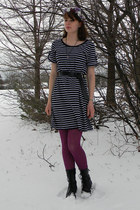 black merona boots - black Walmart dress - light purple Homemade by my cousin ha