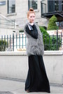 Black-h-m-skirt-gray-zara-vest