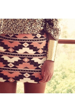aztec pattern skirt