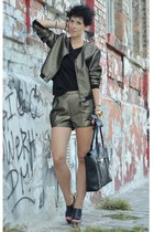 H&M Trend jacket - Marni for H&M shoes - wwwvj-stylecom bag - H&M Trend shorts