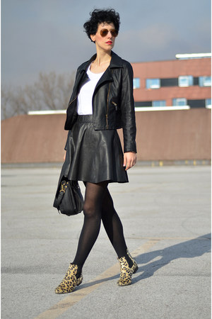 Sheinside jacket - nowIStyle bag - zalando skirt