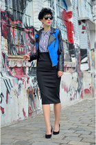Sheinside jacket - Primark shoes - zeroUV sunglasses - H&M Trend skirt