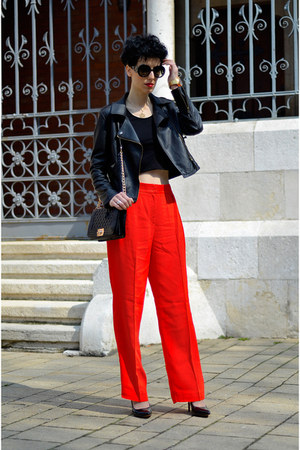 Sheinside jacket - Martofchina bag - zeroUV sunglasses - H&amp;M Trend pants