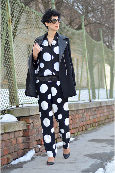 PERSUNMALL shoes - Sheinside coat - zeroUV sunglasses
