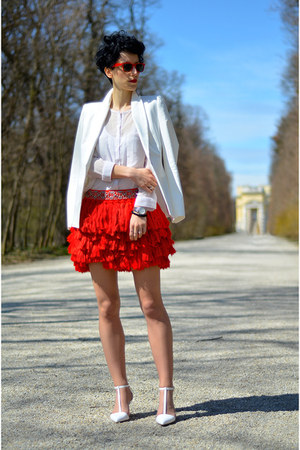 H&M Trend skirt - Zara shoes - Zara blazer - AHAISHOPPING blouse
