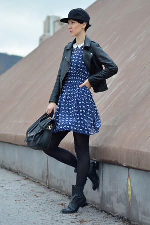 nowIStyle bag - Choies boots - Primark dress - Sheinside jacket