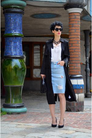 zalando coat - Primark shoes - Zara skirt