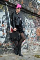 wwwsheinsidecom jacket - Topshop boots - H&M shirt - wwwnowistylejp bag